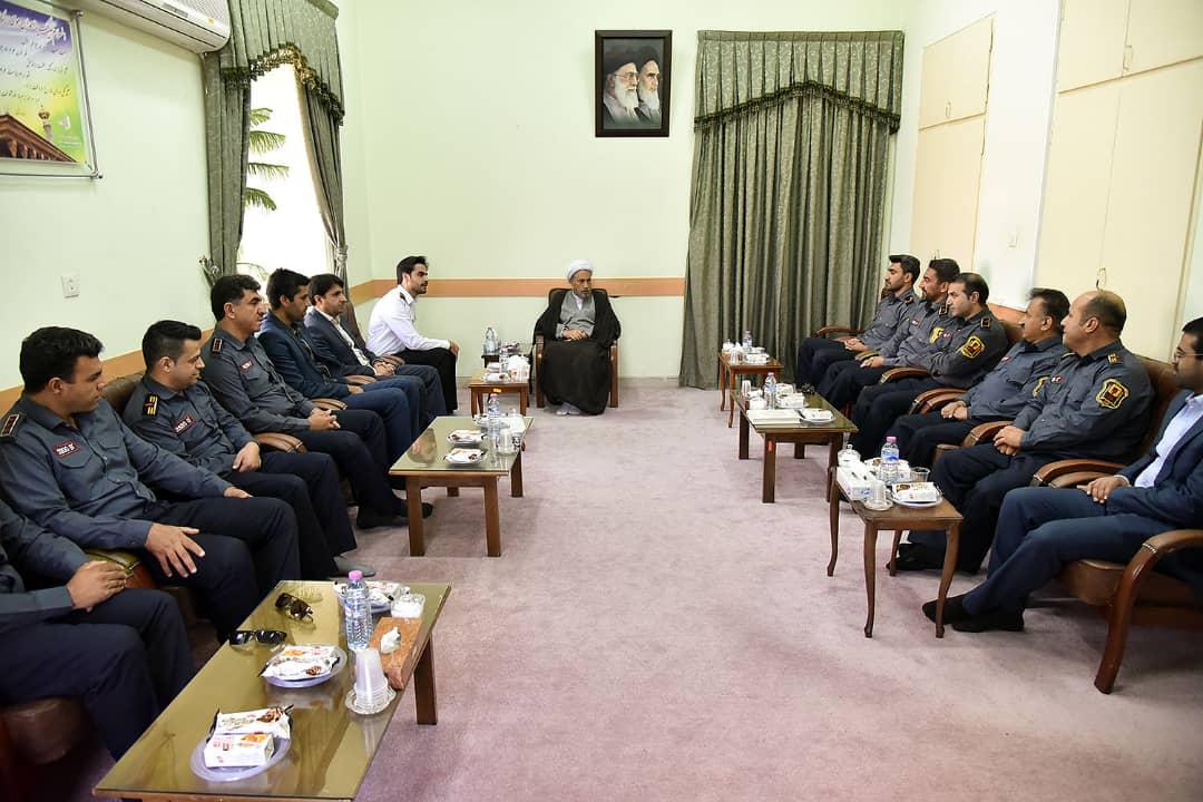 بیانات آیت الله دژکام در دیدار با رئیس سازمان آتش نشانی و جمعی از همکاران