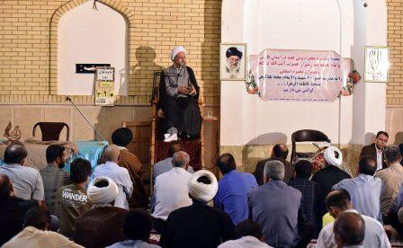 دیدار مردمی آیت الله دژکام در حسینیه فاطمه الزهرا(س) باباکوهی