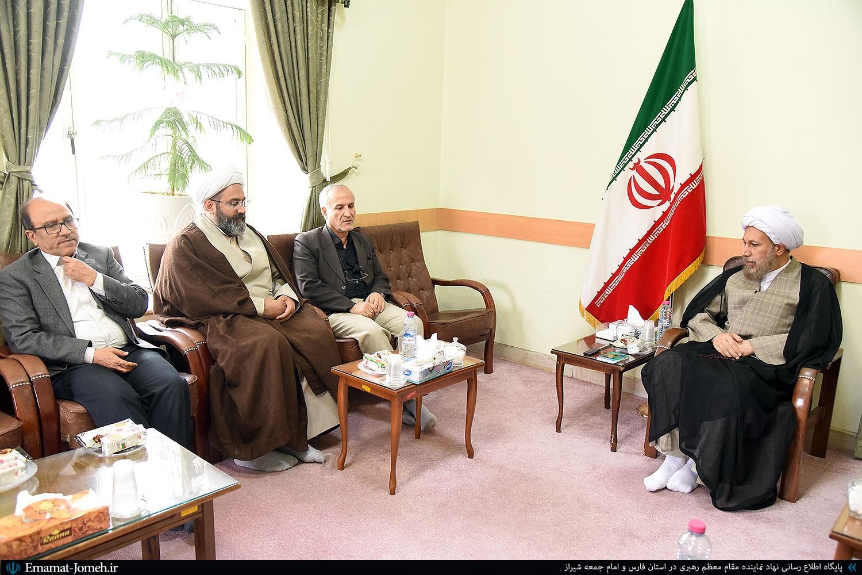 دیدار دکتر نادگران رئیس دانشگاه شیراز با آیت الله دژکام