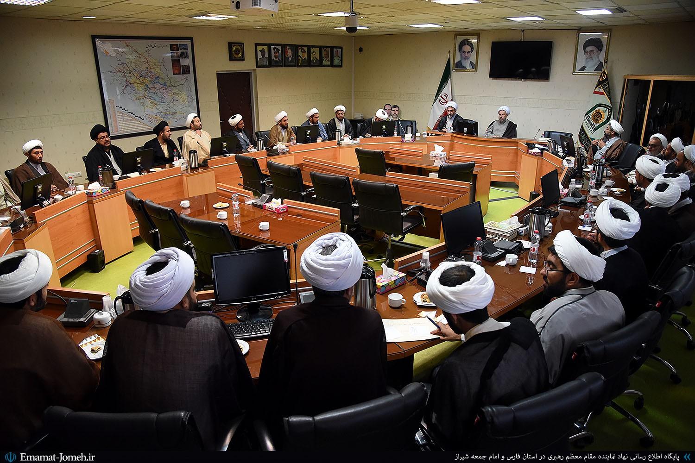حضور آیت الله دژکام در جمع رؤسای عقیدتی سیاسی نیروی انتظامی شهرستان های استان فارس