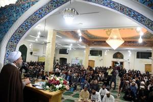 مراسم جشن ولادت پیامبر اکرم(ص) به روایت اهل سنت با حضور آیت الله دژکام در شیراز