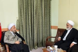 دیدار حجت الاسلام تقی قرائتی مدیر موسسه مسجد با آیت الله دژکام