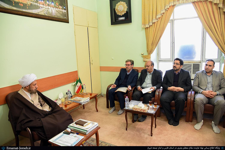 دیدار مدیرکل راه و شهرسازی استان فارس با آیت الله دژکام