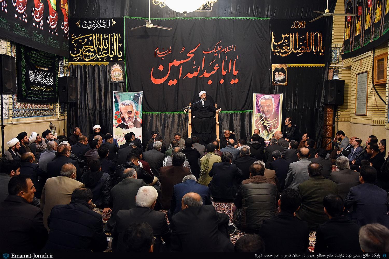 گزیده بیانات آیت الله دژکام در اجتماع هیئات مذهبی شیراز در مسجد حضرت ابوالفضل(ع) به مناسبت بزرگداشت شهید حاج قاسم سلیمانی