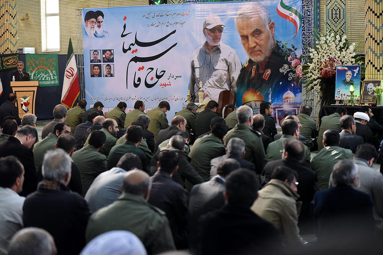 مراسم بزرگداشت شهید سپهبد حاج قاسم سلیمانی در مسجد فاطمه الزهرا(س) شیراز