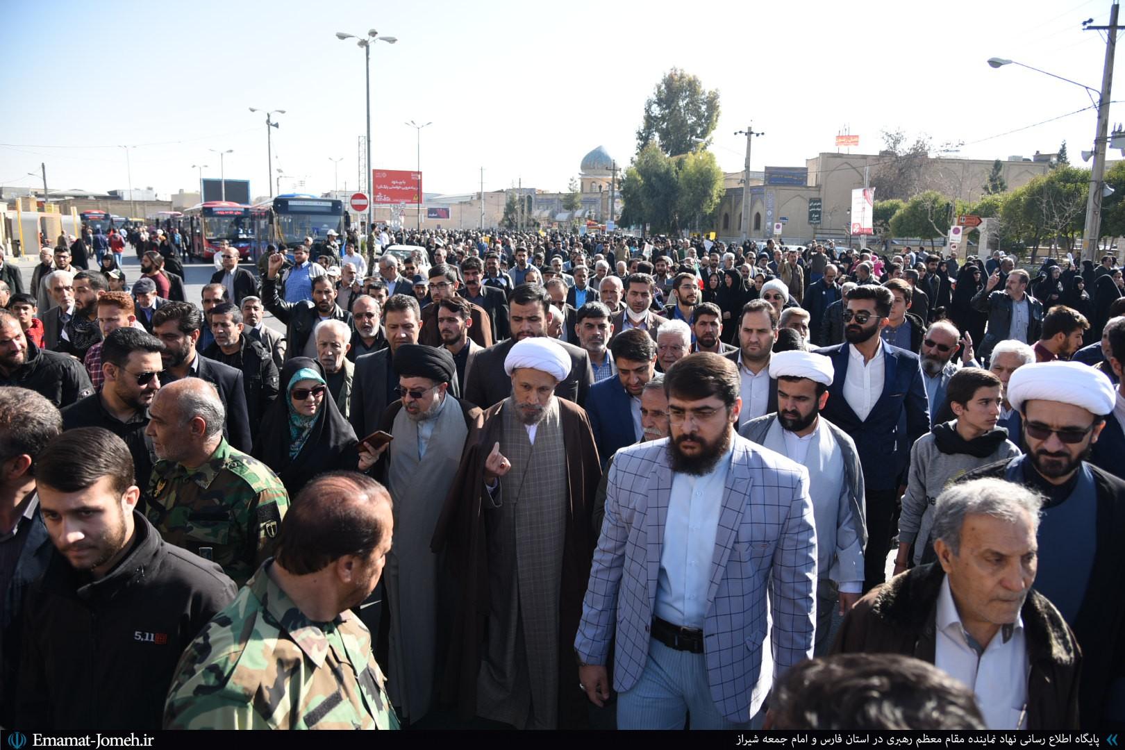 راهپیمایی مردم شیراز در حمایت از سپاه پاسداران انقلاب اسلامی