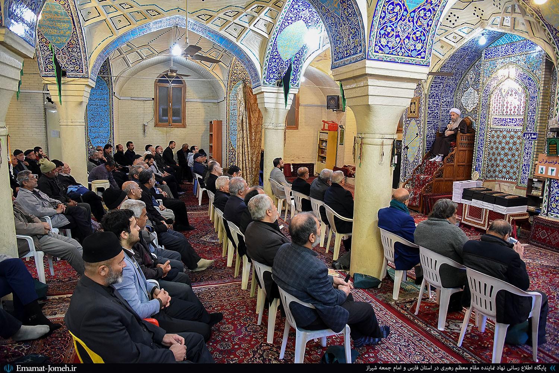 سخنرانی آیت الله دژکام در جمع مسئولین هیأت مذهبی در مسجد آقا احمد شیراز