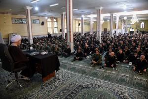 حضور آیت الله دژکام در جمع ماموران نیروی انتظامی استان فارس