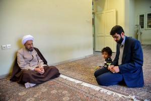 دیدار آقای روح الله نجابت منتخب مردم شیراز در انتخابات مجلس شورای اسلامی با آیت الله دژکام