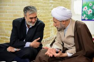 دیدار آقای ابراهیم عزیزی منتخب مردم شیراز در انتخابات مجلس شورای اسلامی با آیت الله دژکام