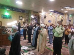 اقامه نماز باشکوه عید سعید فطر توسط آیت الله دژکام در مسجد ایرانی