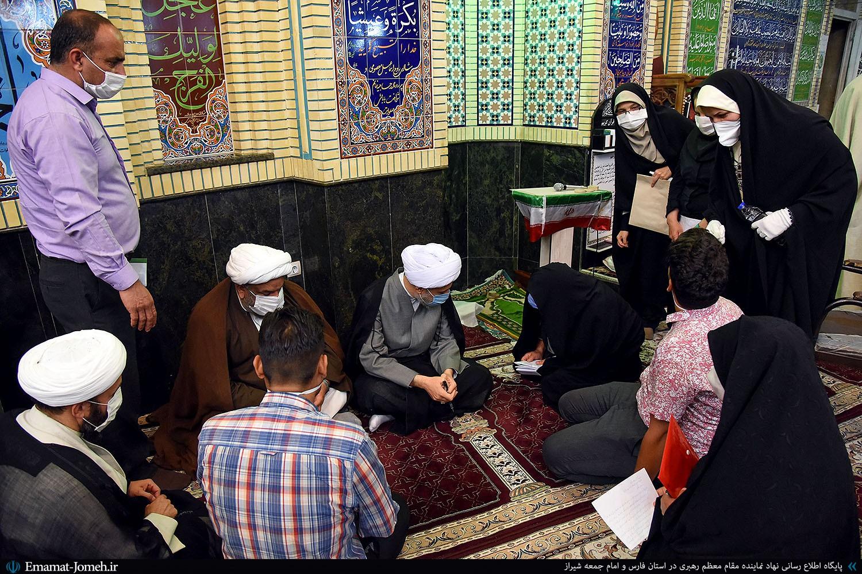 دیدار مردمی آیت الله دژکام در مسجد امام موسی کاظم(ع) شیراز