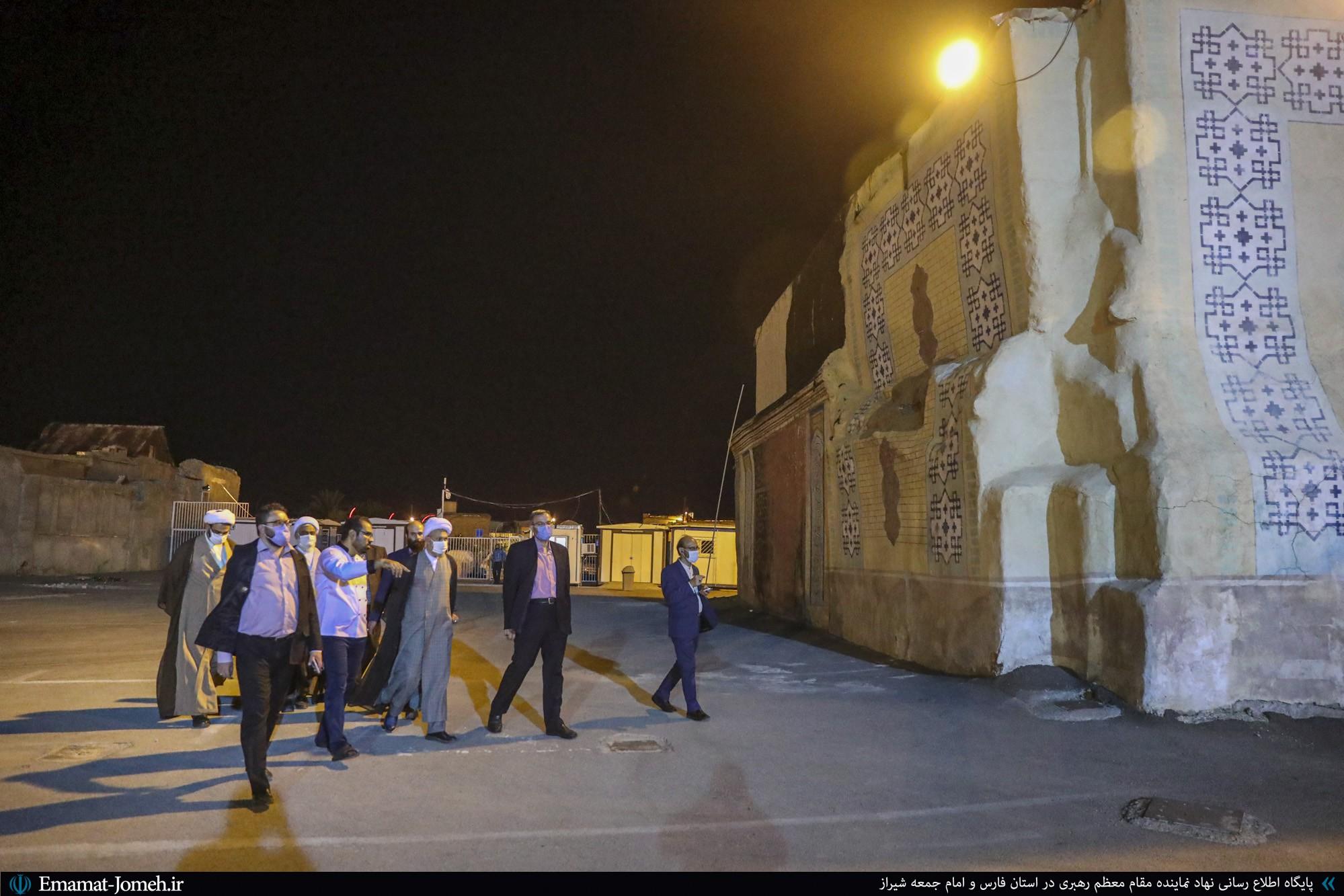 بازدید آیت الله دژکام از مناطق حاشیه آستان مقدس احمدی و محمدی(ع)