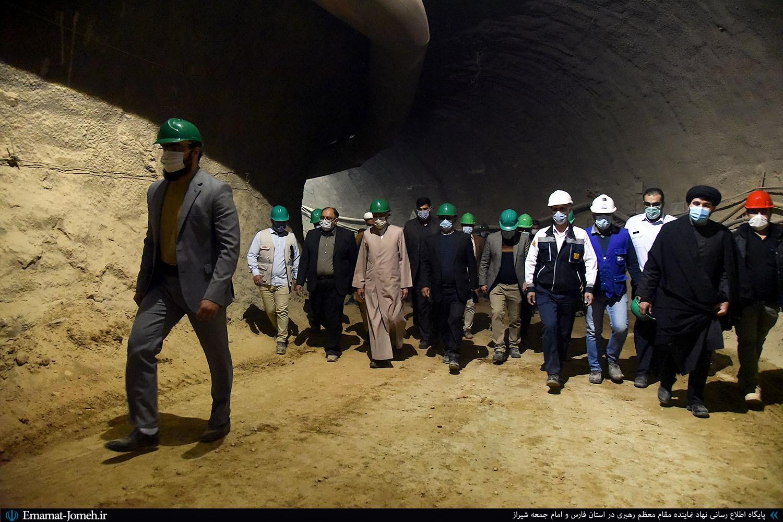 بازدید آیت اله دژکام از مراحل احداث خط دوم قطار شهری شیراز