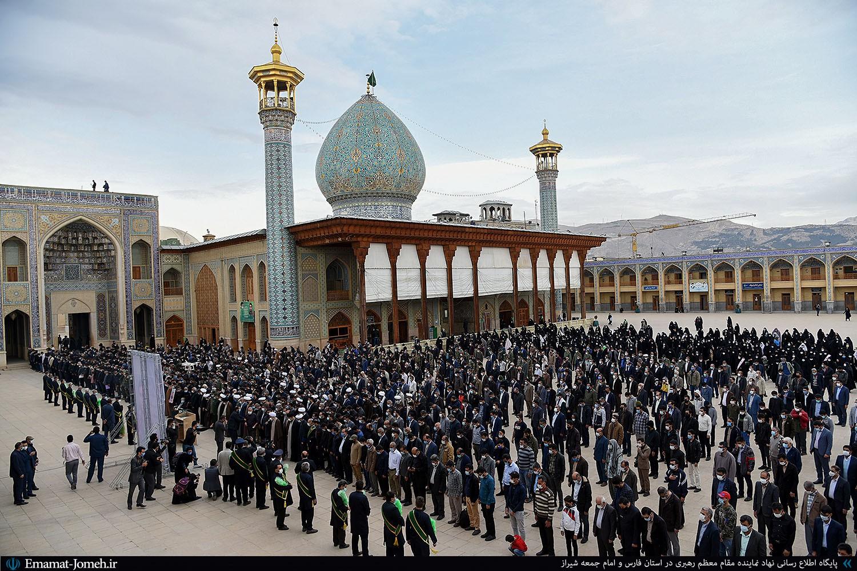 مراسم تشییع شهید محسن جعفری از شهدای مدافع امنیت در حرم مطهر شاهچراغ(ع)