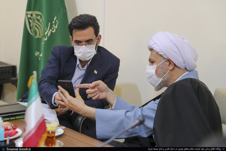دیدار آذری جهرمی وزیر ارتباطات و فناوری اطلاعات با آیت الله دژکام