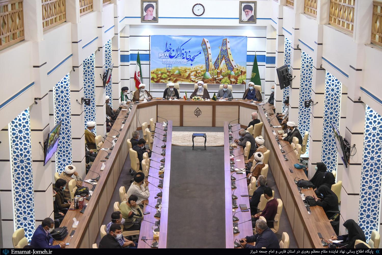 گردهمایی مسئولین کانون های فرهنگی مساجد شیراز با حضور آیت الله دژکام