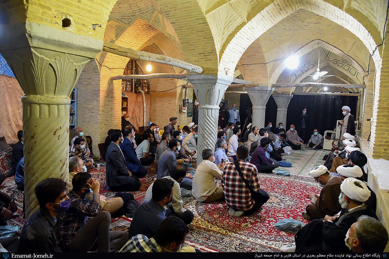 مراسم سهشنبههای مهدوی و اقامه نماز استغاثه در مسجد قدس شیراز محل تشرف امام زمان(عج)