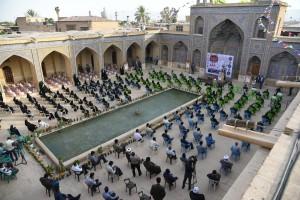 مراسم جشن همدلی و کمک های معیشتی به مناسبت میلاد امام حسن مجتبی(ع) در مسجد نصیرالملک شیراز