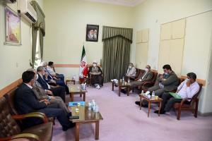 دیدار رئیس ستاد بازسازی عتبات عالیات کشور و جمعی از معاونین با آیت الله دژکام