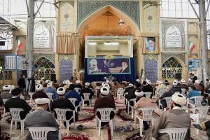 گردهمایی ائمه جماعات، طلاب و روحانیون شیراز با موضوع انتخابات و انتخاب اصلح