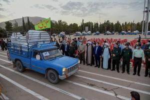 مراسم اهدای یک هزار مخزن آب برای عشایر و ۳۰۰ دست جهیزیه برای زوج های جوان توسط سپاه فجر فارس