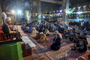 سفر آیت الله دژکام به ایزدخواست و سخنرانی در جمع مردم این شهر به مناسبت عید سعید غدیر
