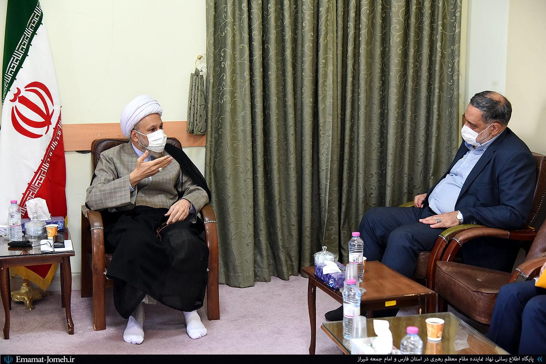 دیدار رضاییان دبیر شورای سیاستگذاری عفاف و حجاب کشور با آیت الله دژکام